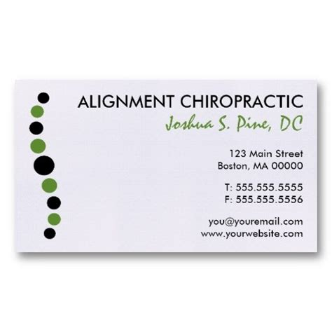 chiropractic business cards templates 17 best chiropractic business card ideas images on