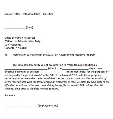 retirement letter template retirement letter templates 31 free sle letter my