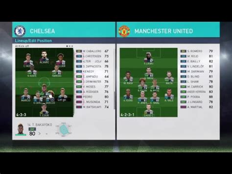 best pes pes 2018 best formation tactics for chelsea