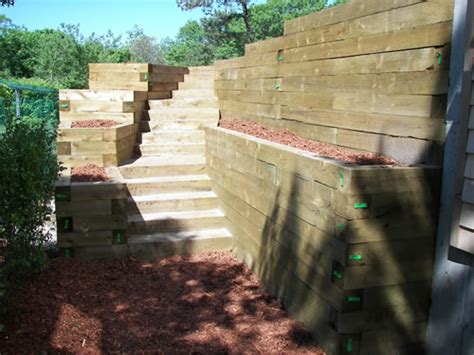 Landscape Timbers Cape Cod Ethan Poulin Landscaping Steps