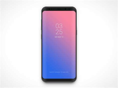 android mockup samsung galaxy s8 android smartphone psd mockup psd mockups