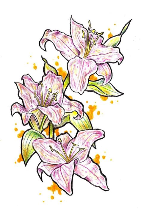stargazer lily tattoo designs 46 best stargazer designs images on