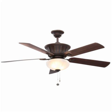 ceiling fan bronze hton bay edenwilde 52 in rubbed bronze ceiling fan al974 obg the home depot