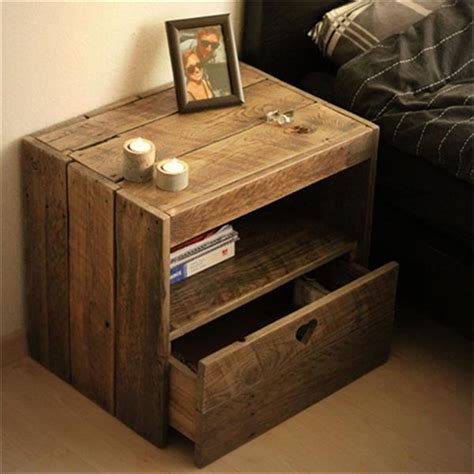 diy bed table diy reclaimed wooden pallet bedside tables pallets designs