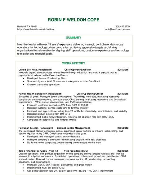Resume Robin Resume For Robin Weldon Cope