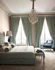 bedroom blue chandelier curtains decor image 143524