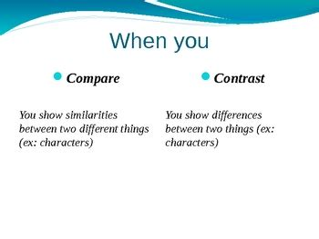 Powerpoint Presentation Compare And Contrast Essay Best Presentation For Compare And Contrast Powerpoint Templates