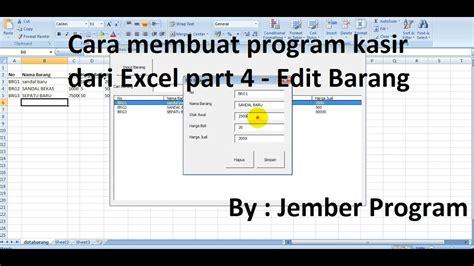 cara membuat file xml dari excel cara membuat aplikasi kasir dari excel part 4 edit