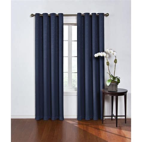 polyester blackout curtains eclipse blackout round and round navy polyester grommet
