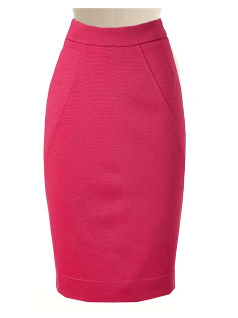 pink pencil skirt custom handmade fully lined