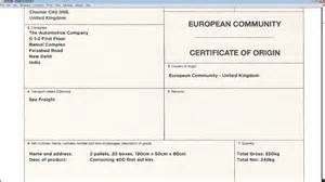 Certificate Of Origin Template Uk by How To Complete A European Community Certificate Of Origin