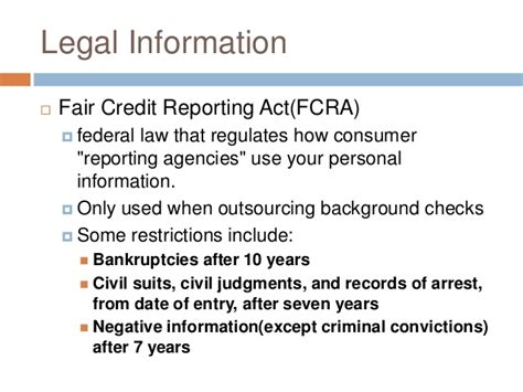 Fair Credit Reporting Act Background Check Federal Fair Credit Reporting Act Background Checks Background Ideas