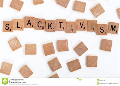 how do you spell scrabble scrabble tiles spell out slacktivism royalty free stock