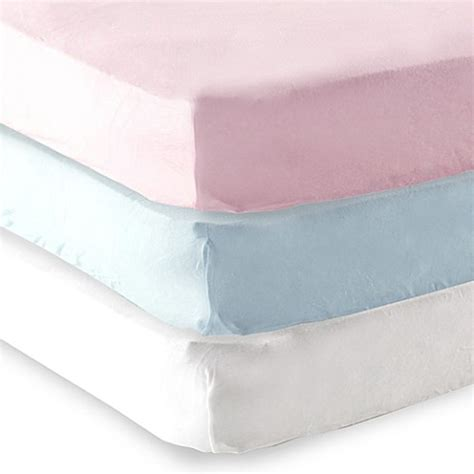 Baby Crib Fitted Sheets Baby Vision 174 Luvable Friends 174 Knitted Cotton Portable Crib Fitted Sheet Bed Bath Beyond