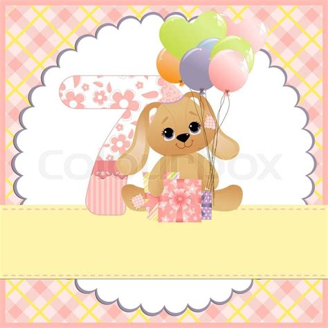 baby birthday card template template for baby birthday card vector colourbox