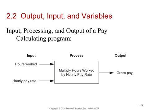 chapter topics 2 1 designing a program 2 2 output input
