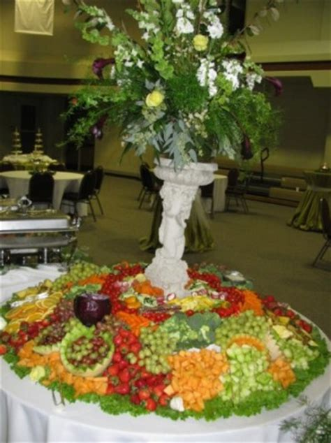 photo gallery wedding reception fruit table and floral
