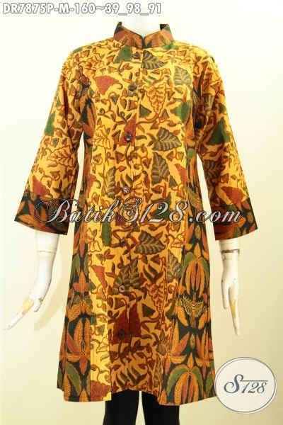 Baju Terusan Wanita Bahan Halus Untuk Kerja juragan baju batik pilihan komplit sedia dress batik