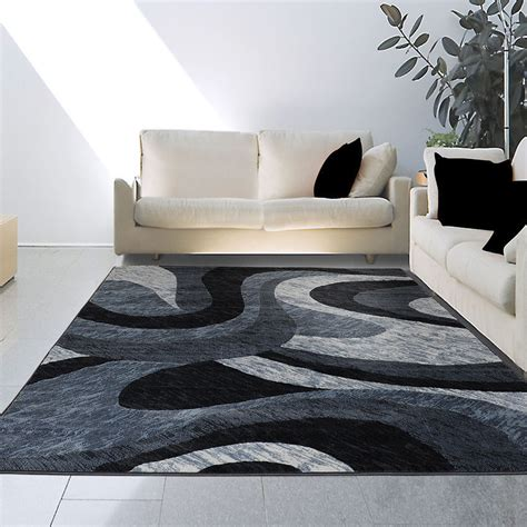 carolwright gift designer area rugs 8x10 7 8 quot x 10 4 quot modern contemporary abstract black