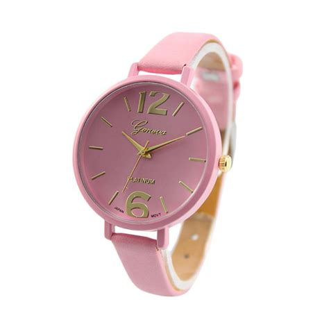 Jam Tangan Analog Wanita Geneva Pink jual daily deals geneva korea tali kecil jam tangan wanita pink harga kualitas