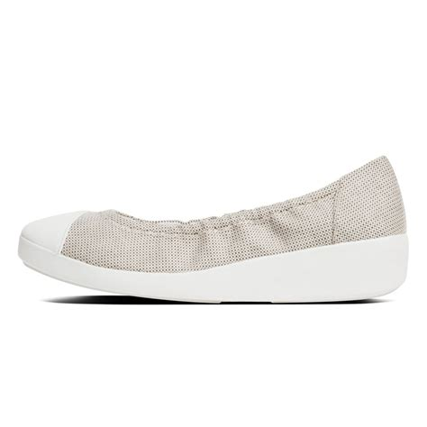 Fitflop Ballerina Canvas by Fitflop Fitflop F Pop Style Quot Ballerina Canvas Quot In Grey