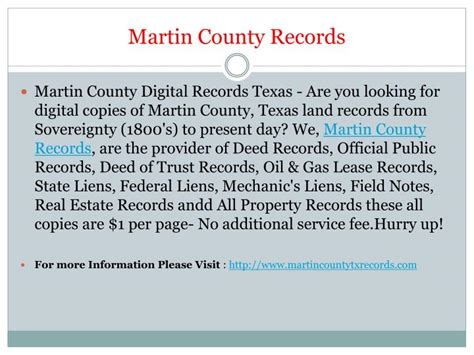 Martin County Records Ppt Martin County Records Powerpoint Presentation Id 7259250