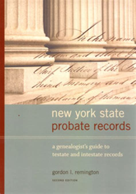 New York Probate Court Records Genealo Gy 187 Uncategorized