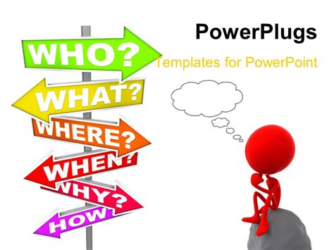 powerpoint templates questions powerpoint template 3d human character sitting on stone