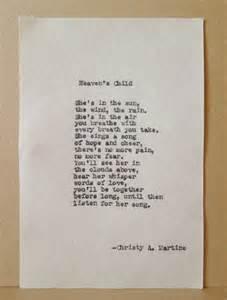 sympathy poem heaven s child loss of child comfort after