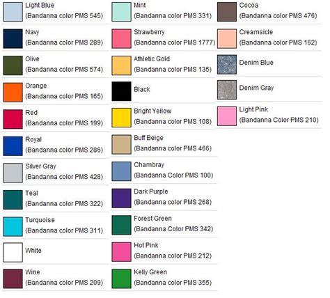 bandana color meaning 22 inch bandanna 50 50 blend usa made item 4200