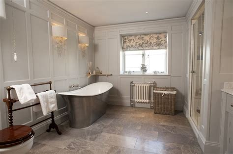 panelled bathroom ideas panelled bathroom painted in farrow