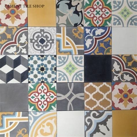 Patchwork Cement Tile - in stock cement tile wall and floor tile ta by