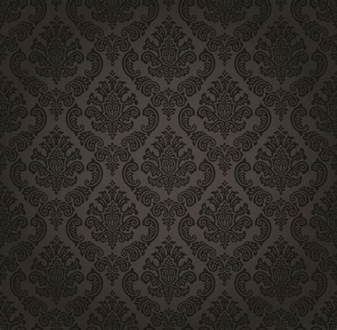 pattern dark svg luxurious black damask patterns vector free vector in