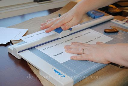 Scoring Paper To Fold - diy invitations choosing a paper cutter trimmer scoring