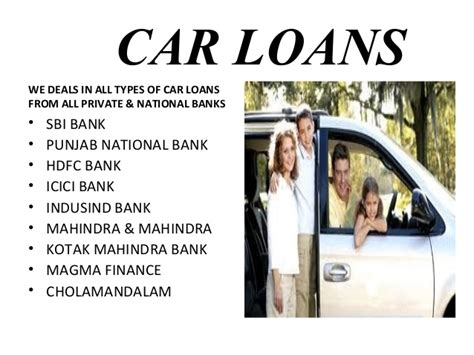 Car Finance Types all of cars loans insurance property services