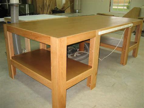 woodworking plans wood shop table  plans