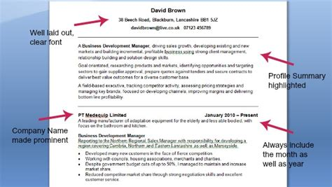 Example Great Resume by Good Cv Example Cv Template On Target Recruitment