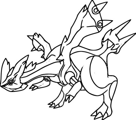 pokemon coloring pages kyurem free coloring pages of pokemon electhor