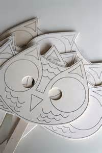 Owl Mask Template by Pin Owl Mask Template On