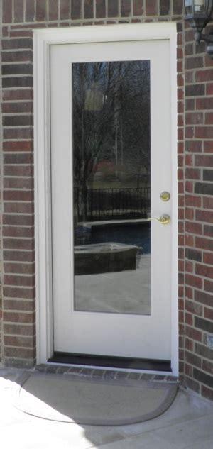 Plastic Exterior Doors Flush Glazed Glass Frameless Fiberglass Exterior