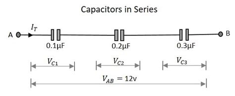 capacitor on series basic electronics circuit connections in capacitors