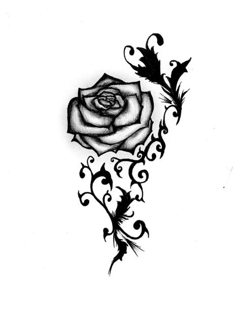 free rose tattoo designs clipart best