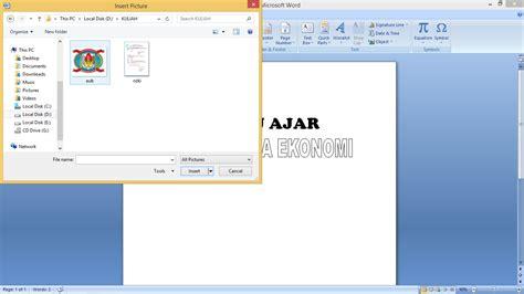 cara membuat cover makalah garis tiga tugas aplikasi komputer cara membuat cover makalah dengan