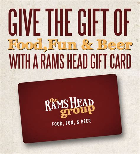 this holiday season give the gift of food fun beer oh and music rams head group - Maryland Live Casino Gift Cards