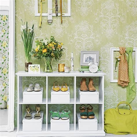 green wallpaper hallway green and white country hallway decorating housetohome