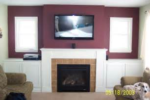 tv wall mount fireplace living room living room with tv above fireplace