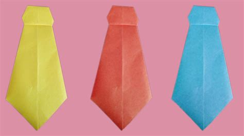 How To Make A Tie With Paper - origami tie gallery craft decoration ideas