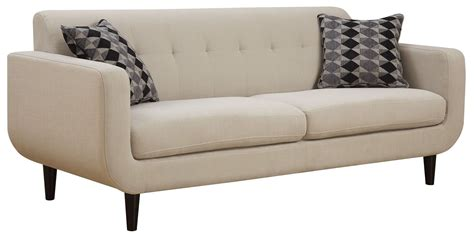 ivory couches stansall ivory sofa from coaster 505204 coleman furniture
