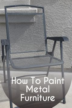 Best Spray Paint For Metal Patio Furniture Painting Metal On Pinterest Painting Metal Cabinets