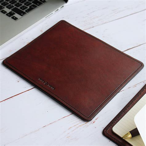 Mouse Mat by Leather Mouse Mat By Hide Home Notonthehighstreet